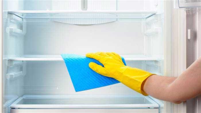 تمیز و آماده کردن یخچال برای حمل