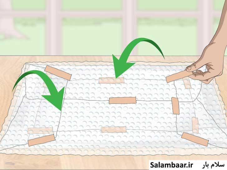 بسته بندی تابلو با نایلون حباب دار