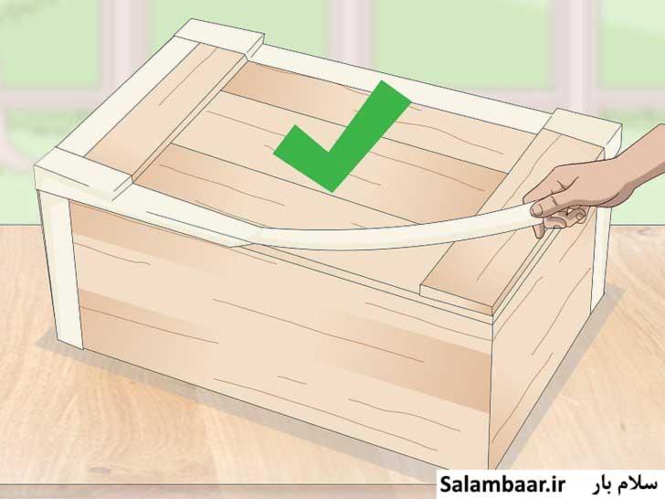 چسب زدن کناره های جعبه