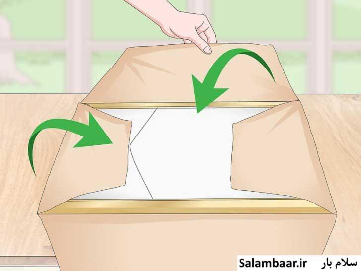 تابلو شیشه ای را در کاغذ کرافت بپیچید