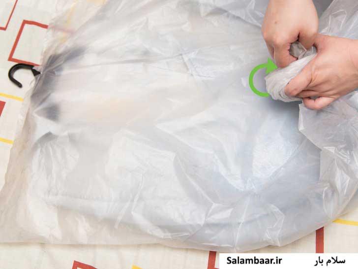 کیسه وکیوم بدون هوا برای لباس