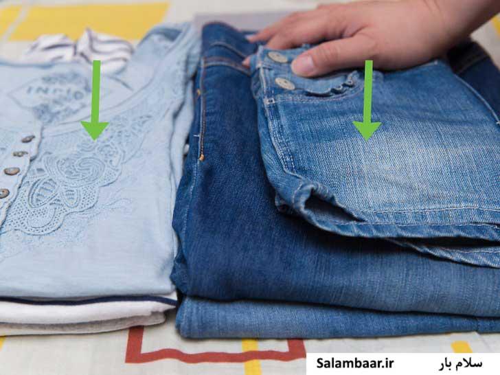 بسته بندی لباس ها بر اساس جنس آنها