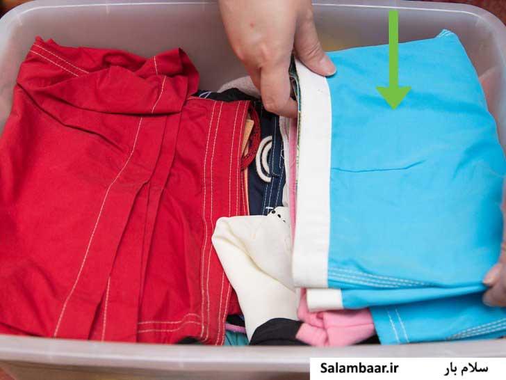 جعبه کوچک برای بسته بندی لباس