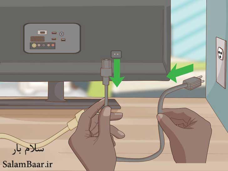 آماده سازی تلویزیون برای بسته بندی