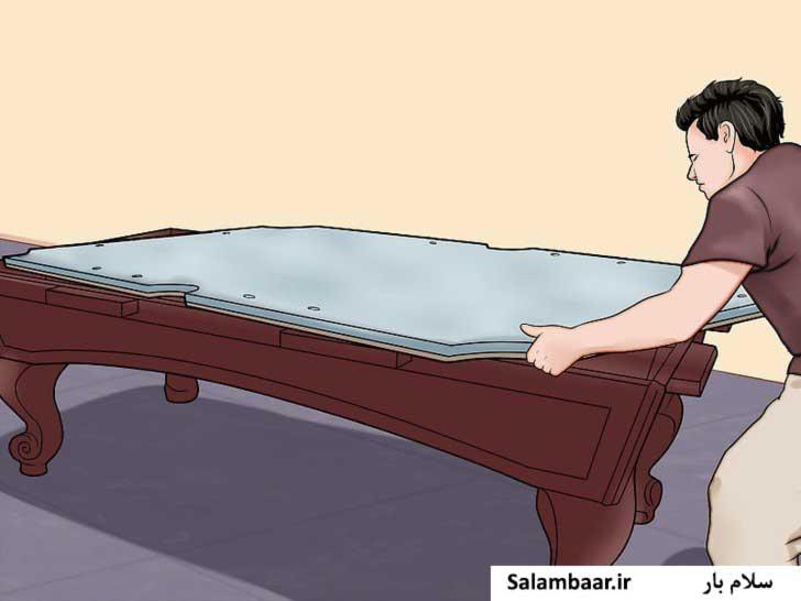 نصب سنگ میز بیلیارد